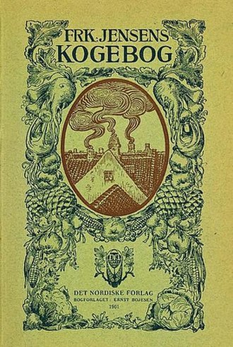 Kristine Marie Jensen - Cover of Frk. Jensens Kogbog, 1st edition
