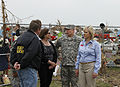From right, Oklahoma Gov. Mary Fallin leads U.S. Army Gen. Frank J. Grass, the chief of the National Guard Bureau; Grass' wife, Patrica; and Albert Ashwood, the director of Oklahoma Emergency Management, through 130528-Z-VF620-4057.jpg