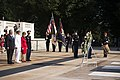 Full honors Army wreath laying at the Tomb of the Unknown Soldier in Arlington National Cemetery to honor the 72nd anniversary of the Liberation of Guam and the battle for the Northern Mariana Islands (27559217284).jpg