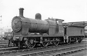Furness Railway 0-6-0 at Workington Shed, 1951 (geograph 4979348).jpg