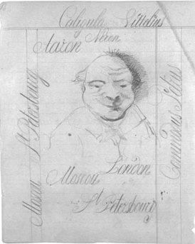 Fyodor Dostoyevsky manuscript and drawing 06.jpg