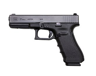 "Glock - Glock 17 Gen 4 ""fourth-generation"" full-size model"