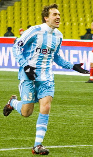 Gaël Givet - Givet playing for Marseille in February 2008