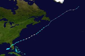 Hurricane Gabrielle (2001) - Image: Gabrielle 2001 track