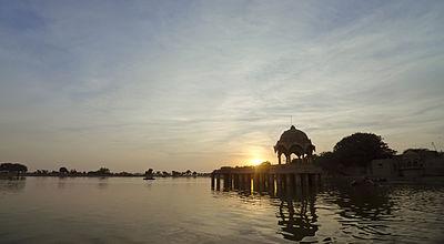 Gadsisar Lake Sunset.jpg