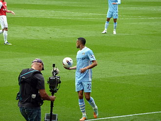 Gaël Clichy - Clichy taking a throw-in for Manchester City in April 2012, against former club Arsenal.