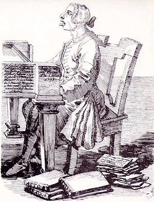 Gaetano Latilla - Caricature of Latilla by Pier Leone Ghezzi, 1739