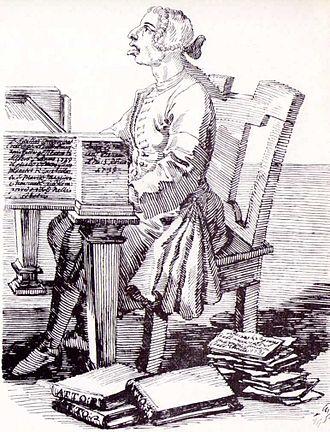 Gaetano Latilla - Caricature of Latilla by Pier Leone Ghezzi, 1739