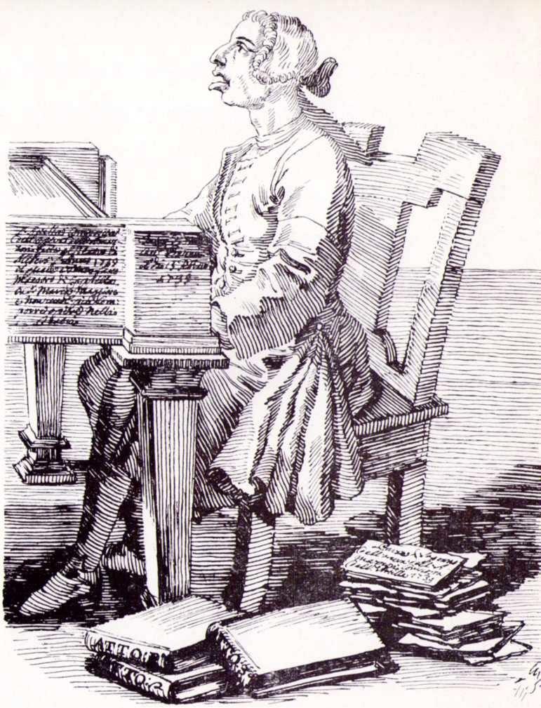 Gaetano Latilla by Pier Leone Ghezzi. 1739