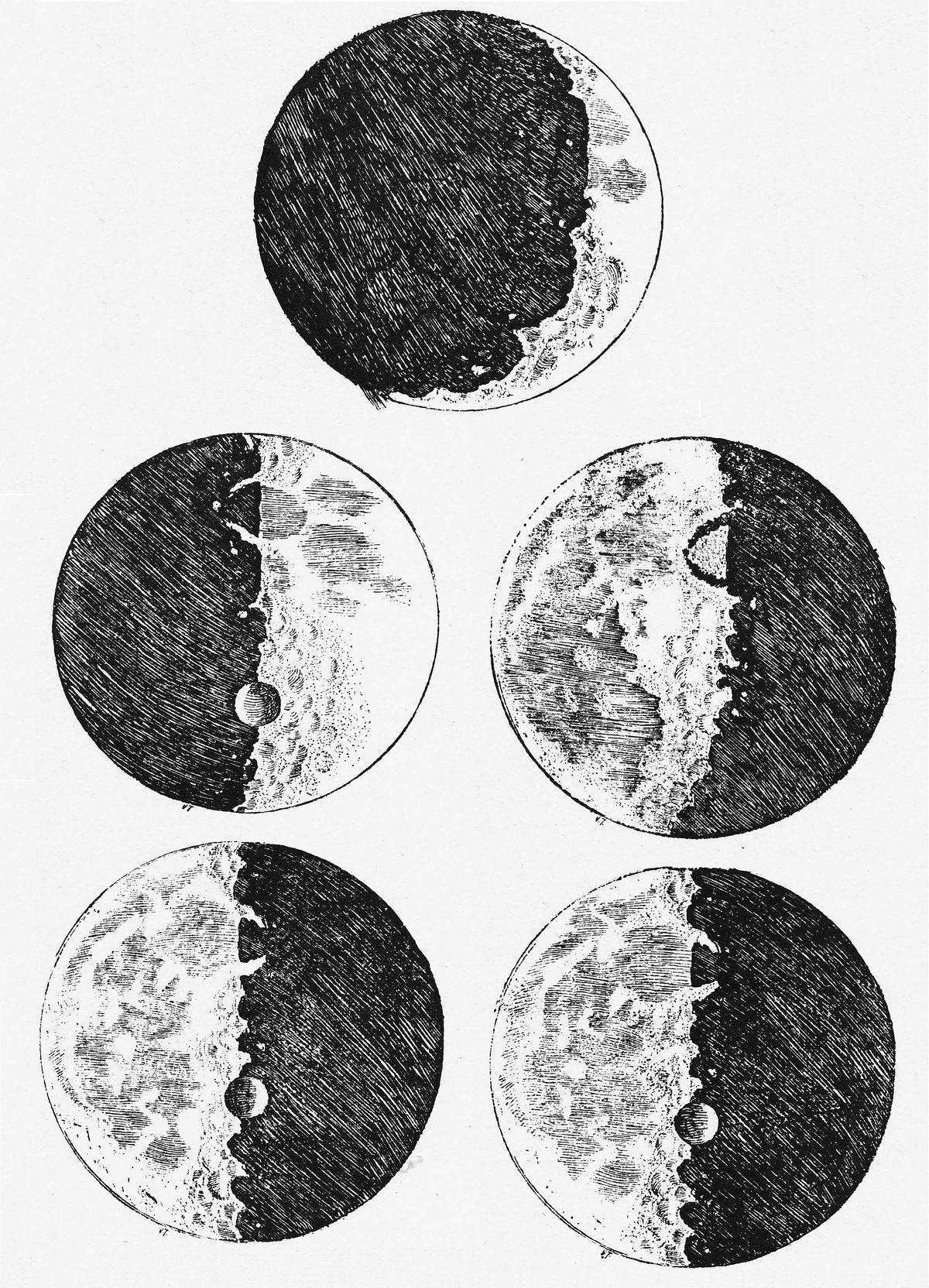 Galileo's Drawings and Writings