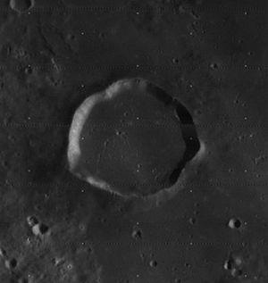 Gambart (crater) - Image: Gambart crater 4120 h 3