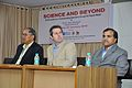 Ganga Singh Rautela - Iain Simpson Stewart - Anil Shrikrishna Manekar - Iain Stewart Lecture on Communicating Geoscience through the Popular Media - NCSM Kolkata 2016-01-25 9312.JPG