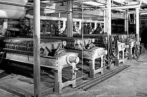 Utah-Idaho Sugar Company - Sugar beet presses at the Garland factory