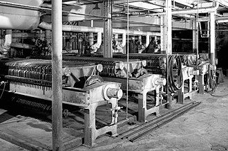 Utah-Idaho Sugar Company - Sugar beet presses at the Garland factory