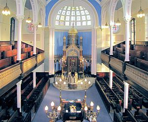 Garnethill Synagogue - Garnethill Synagogue Interior - Including: seating galleries, apse, and Torah-Ark.