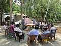 Gathering in a meeting of villagers in an Bangladeshi village 2015 24.jpg