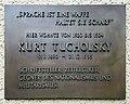 Gedenktafel Bundesallee 79 (Fried) Kurt Tucholsky.jpg
