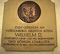 Gedenktafel für König Wilhelm II. und Königin Charlotte am Schloss Bebenhausen (2010).jpg