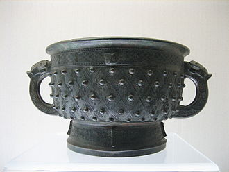 Tin sources and trade in ancient times - A Shang Dynasty bronze gefuding gui vessel