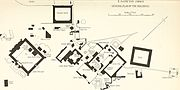 General plan of buildings Fatehpur Sikri 1917