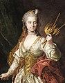 Genevieve Randon de Malboissiere (1746-1766) as Melpomene, Muse of Tragedy (Louis-Michel van Loo).jpg