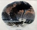 Geography; water spouts at sea, with rain. Coloured wood eng Wellcome V0025029.jpg