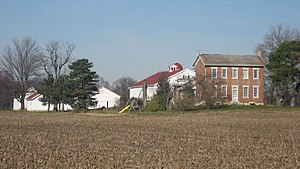National Register of Historic Places listings in Montgomery County, Ohio - Image: George Bixler Farm from southwest