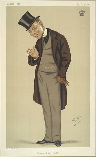 "George Byng, 7th Viscount Torrington - ""A man of the world"". Caricature by Spy published in Vanity Fair in 1876."