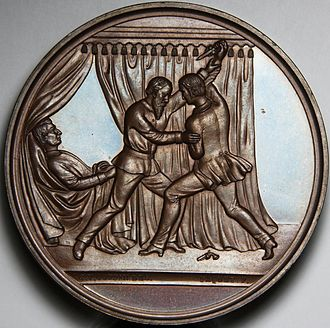 George F. Robinson - Medal presented to George F. Robinson for saving William H. Seward's life