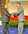 George Simon receiving the Anthony N. Sagba Caribbean Award for Excellence.jpg