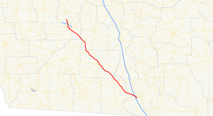 Georgia State Route 133 - Image: Georgia state route 133 map