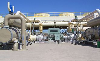 Steamboat Springs (Nevada) - Ormat's 20MW geothermal power plant in Steamboat Springs.