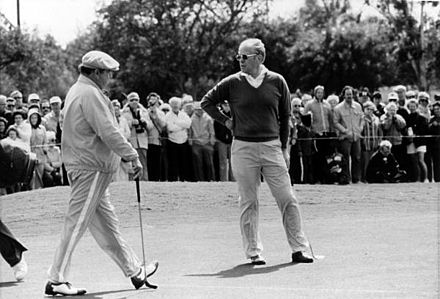 Gleason playing golf with President Gerald Ford, c. 1975
