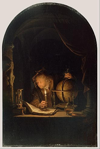 Gerrit Dou - Astronomer by Candlelight