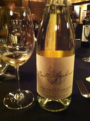 British Columbia wine - A Gewürztraminer from British Columbia.