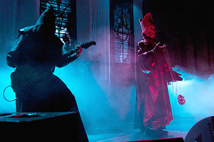 Ghost performing at the Getaway Rock Festival 2011 in Sweden Ghost Getaway Rock Festival.jpg