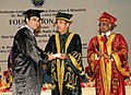 Ghulam Nabi Azad presented the degree to the first batch of Post Graduate and Super Speciality students passing out of the Post Graduate Institute of Medical Education & Research, Dr. Ram Manohar Lohia Hospital (PGIMER-RML).jpg
