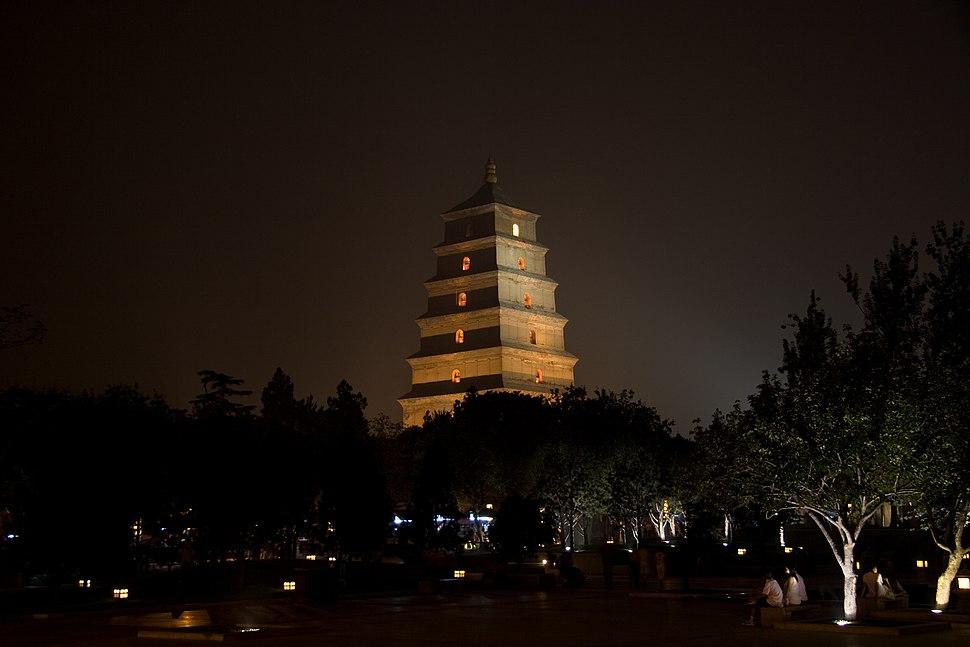 Giant Wild Goose Pagoda, Xi'an, China - 005