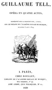 Strona tytułowa libretta, Paryż 1829