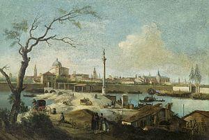 Giuseppe Bernardino Bison - Image: Giuseppe Bernardino Bison Capriccio mit der Ansicht von Padua