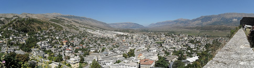 Panorama of Gjirokastër from the Castle