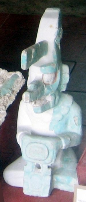 K'awiil - K'awiil effigy cast from Tikal