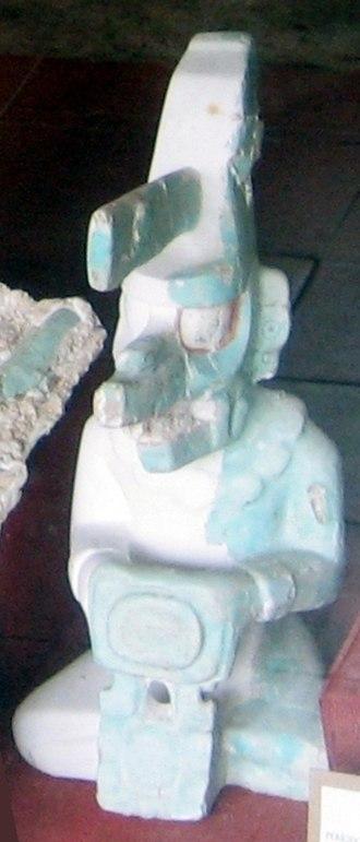 K'awiil - K'awiil effigy cast from Tikal