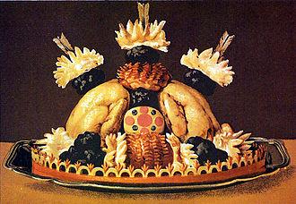 Jules Gouffé - Poularde à la Godard, color plate from Livre de cuisine