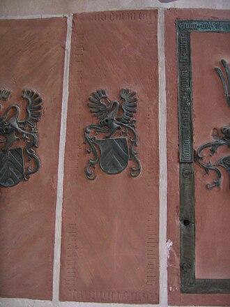 Reinhard II, Count of Hanau - Reihard's grave stone in the St. Mary's Church in Hanau
