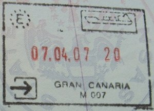 Gran Canaria - Passport stamp from Gran Canaria