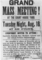 Grand mass meeting poster coal creek war.png