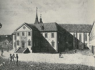 University of Göttingen - The old building of the university and its library in 1815