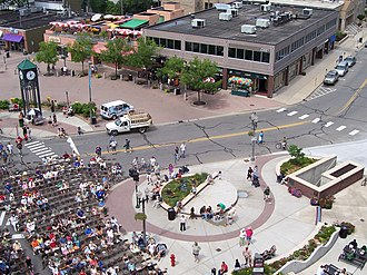East Lansing, Michigan - The Great Lakes Folk Festival in East Lansing's Ann Street Plaza.