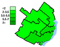 Green Party of Canada election results, Quebec City 2004.PNG